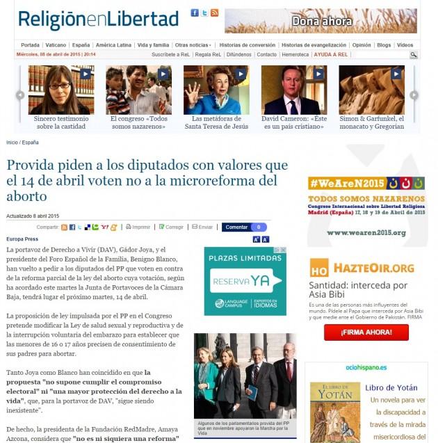 Religión el Libertad